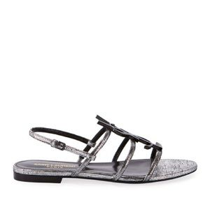 Saint Laurent Cassandra Metallic Sandals